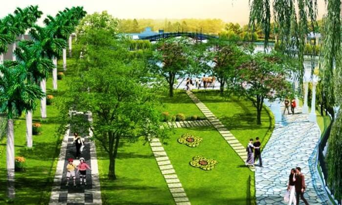 Công viên trung tâm khu đô thị Vườn Cam