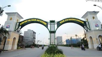 Cổng vào khu đô thị Nam An Khánh