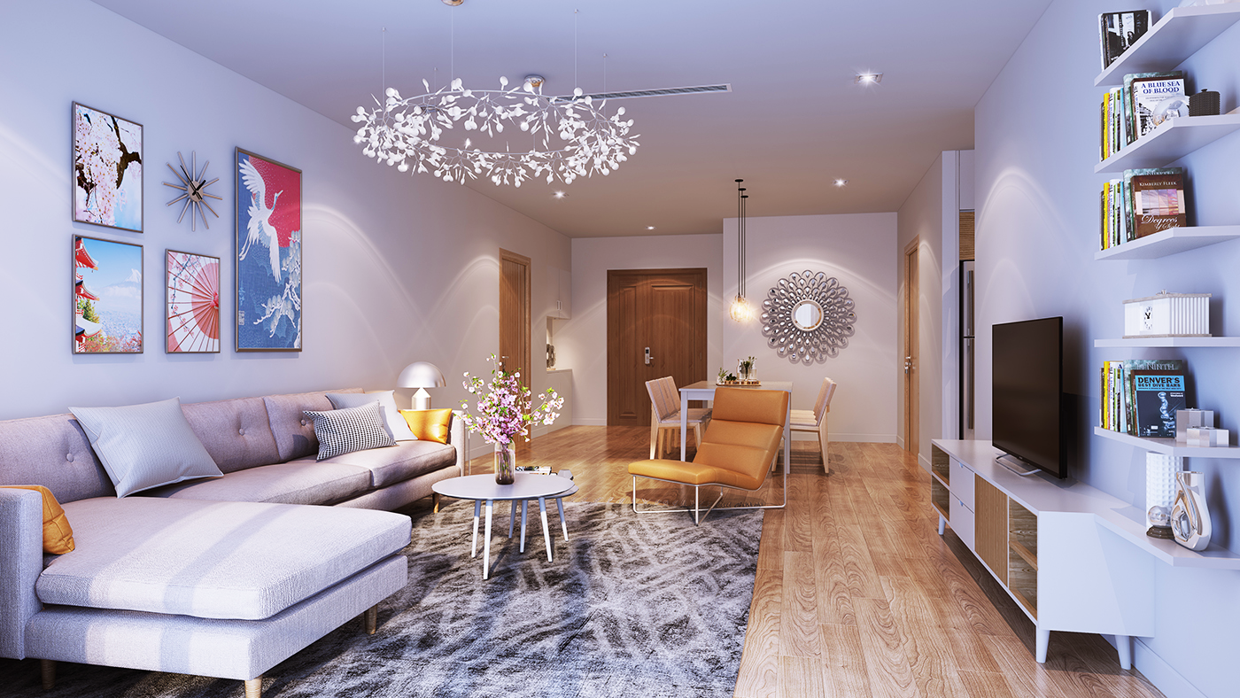 Thiết kế căn hộ tại Hinode City